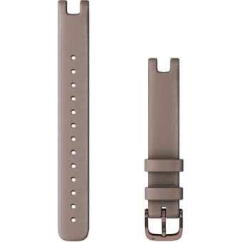 Garmin Lily Womens 14mm Leather Band (Large) Paloma