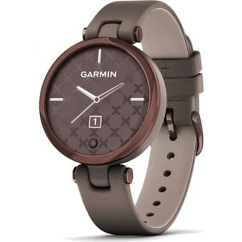 Garmin Lily Womens Smart Watch Dark Bronze Bezel/Paloma Case/Leather Band