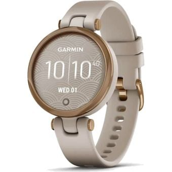 Garmin Lily Womens Smart Watch Rose Gold Bezel/Light Sand Case/Silicone Band