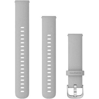Garmin Quick Release 18mm Silicone Band Mist Grey/Silver