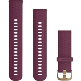 Garmin Quick Release 20mm Silicone Band Berry/Gold