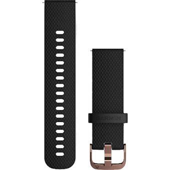 Garmin Quick Release 20mm Silicone Band Black/Rose Gold Small/Medium