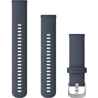 Garmin Quick Release 22mm Silicone Band Granite Blue/Silver