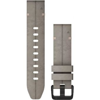 Garmin Quickfit 20mm Leather Band Grey Suede