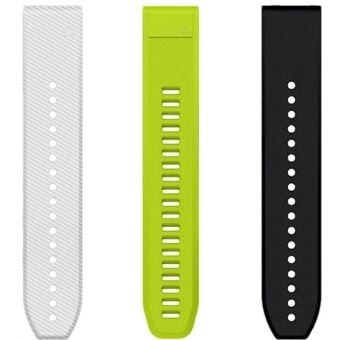 Garmin Quickfit 20mm Silicone Bands x 3 Large