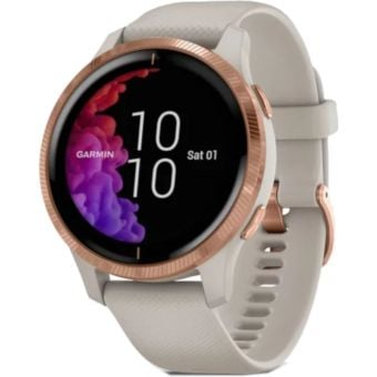 Garmin Venu GPS Smart Watch Light Sand/Rose Gold