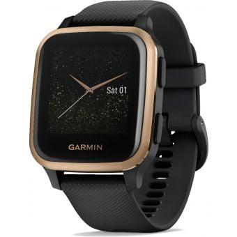 Garmin Venu SQ Music Edition GPS/SmartWatch Rose Gold Bezel/Black Band