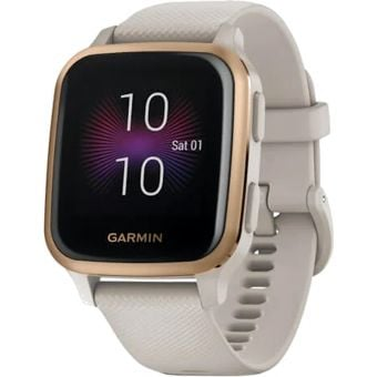 Garmin Venu SQ Music Edition GPS/SmartWatch Rose Gold Bezel/Light Sand Band