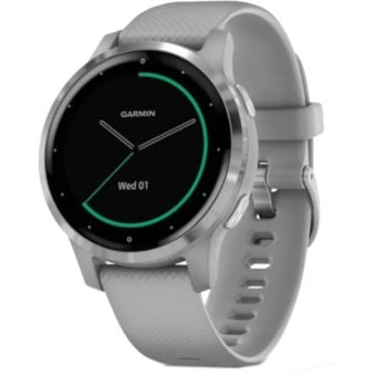 Garmin Vivoactive 4S GPS Smart Watch Powder Grey/Silver