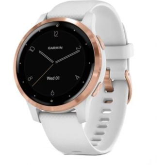 Garmin Vivoactive 4S GPS Smart Watch White/Rose Gold