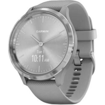 Garmin Vivomove 3 Smartwatch 44mm Silver Stainless Steel Bezel/Powder Gray Case/Silicone Band