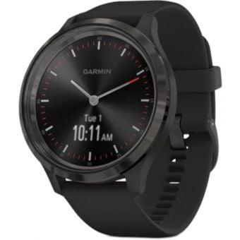 Garmin Vivomove 3 Smartwatch 44mm Slate Stainless Steel Bezel/Black Case/Silicone Band