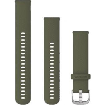Garmin vivomove 3s Quick Release 20mm Silicon Band Moss Green/Silver