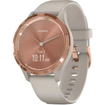 Garmin Vivomove 3S Smartwatch 39mm Rose Gold Stainless Steel Bezel/Light Sand Case/Silicone Band