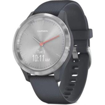 Garmin Vivomove 3S Smartwatch 39mm Silver Stainless Steel Bezel/Granite Blue Case/Silicone Band