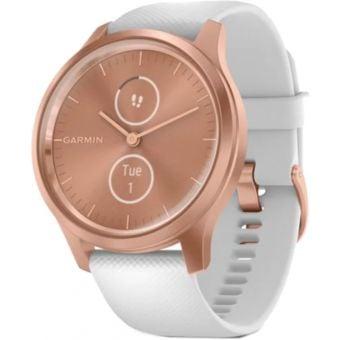 Garmin Vivomove Style Smartwatch Rose Gold Aluminum Case/White Silicone Band
