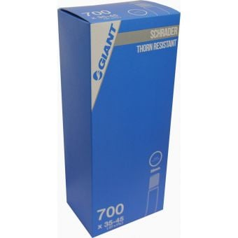 Giant 700x35/45c Schrader Valve 35mm Thorn Resistant Tube