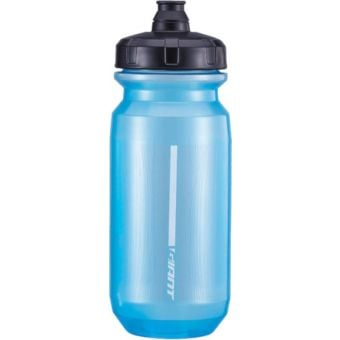 Giant PourFast Double Spring 600mL Water Bottle Transparent Blue/Grey