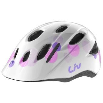 Giant LIV Musa Dial Fit Kids Helmet (50-55cm) Gloss Bubble White