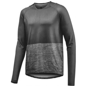 Giant Transfer Long Sleeve Jersey Black/Grey Small