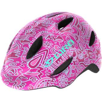 Giro Scamp Youth Helmet Pink Flowerland X-Small