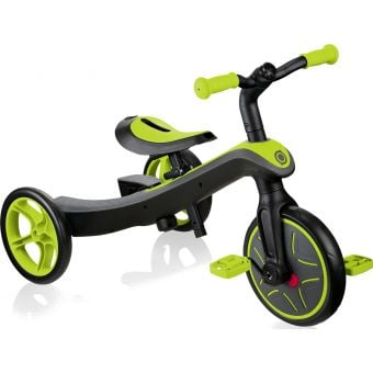 Globber Explorer 2 in 1 Kids Training/Balance Trike Lime Green