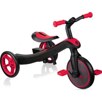 Globber Explorer 2 in 1 Kids Training/Balance Trike Red