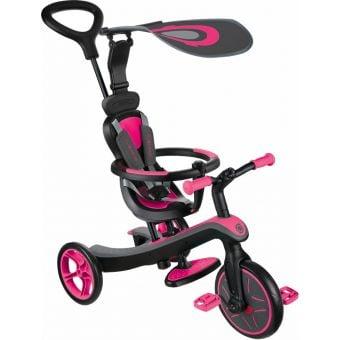 Globber Explorer 4 in 1 Kids Taining/Balance Trike Fuchsia Pink