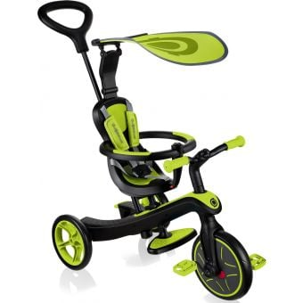 Globber Explorer 4 in 1 Kids Training/Balance Trike Lime Green