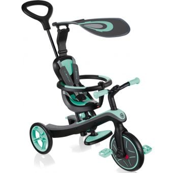 Globber Explorer 4 in 1 Kids Training/Balance Trike Mint