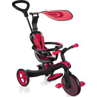Globber Explorer 4 in 1 Kids Training/Balance Trike Red