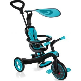 Globber Explorer 4 in 1 Kids Training/Balance Trike Teal