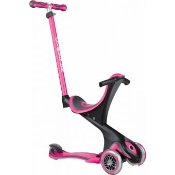 Globber Go Up Comfort Convertible Ride On Scooter Deep Pink