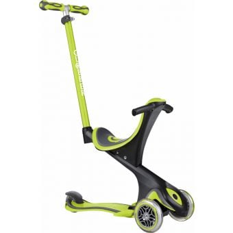 Globber Go Up Comfort Convertible Ride On Scooter Lime Green