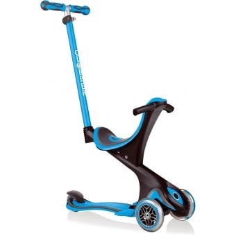 Globber Go Up Comfort Convertible Ride on Scooter Sky Blue