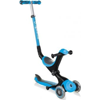 Globber Go Up Deluxe Convertible Ride On Scooter Sky Blue