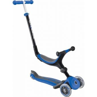 Globber Go Up Fold Plus Convertible Ride On Scooter Navy