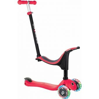 Globber Go Up Sporty Light Up Scooter Red
