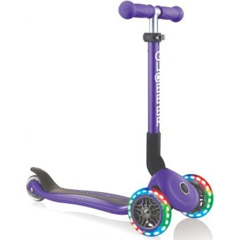 Globber Junior Primo Light Up Foldable Scooter Purple