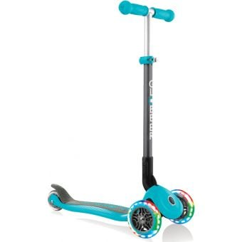 Globber Junior Primo Light Up Foldable Scooter Teal