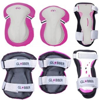 Globber Junior Protective Pad Set Deep Pink