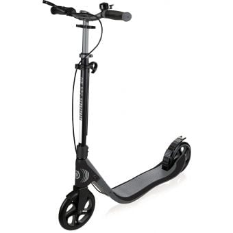 Globber One NL 205 Deluxe Adult Scooter Titanium/Charcoal Grey