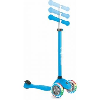 Globber Primo Light Up Foldable Scooter Sky Blue