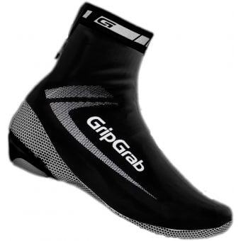 Grip Grab Race Aqua Shoe Covers Black