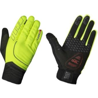 GripGrab Hurricane Windproof Midseason Gloves Hi-Vis Yellow