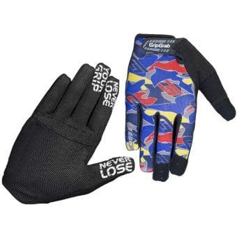 GripGrab Rebel Rugged FF Gloves Blue Camo 2021