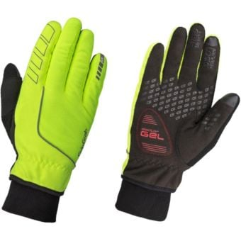 GripGrab Windster Windproof Winter Gloves Hi-Vis Yellow