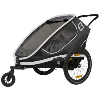Hamax Outback Two Child Trailer w/Recline Black/Grey