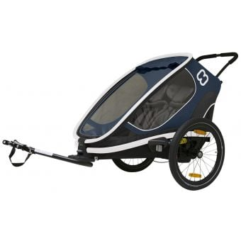 Hamax Outback Two Child Trailer w/Recline Blue/White