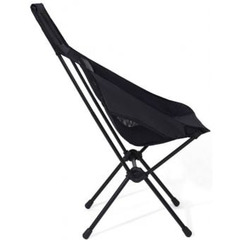 Helinox Chair Two Lightweight Camping Chair Blackout/Black Frame Side